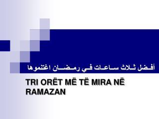TRI OR T M  T  MIRA N  RAMAZAN