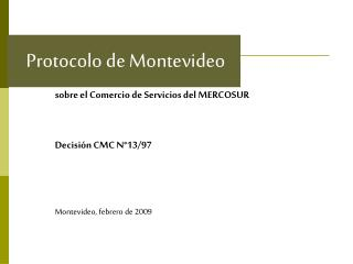 Protocolo de Montevideo