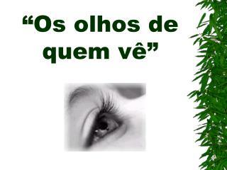 Os olhos de quem v