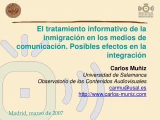El tratamiento informativo de la inmigraci n en los medios de comunicaci n. Posibles efectos en la integraci n
