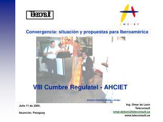Convergencia: situaci n y propuestas para Iberoam rica