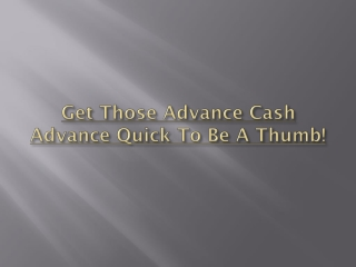 Payday loans, we care for you