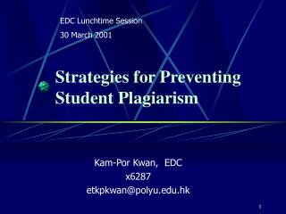 Strategies for Preventing Student Plagiarism