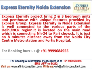 "Enqiury @ 09999684955 express group new apartments ""express"