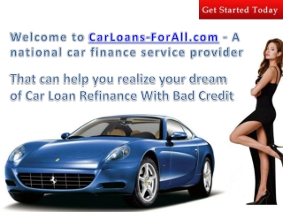 car loan refinance with bad credit
