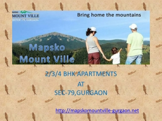 Mapsko Mount Ville Gurgaon-Call @8527993201