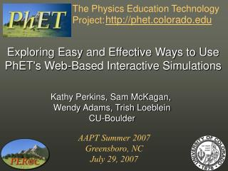 The Physics Education Technology Project: