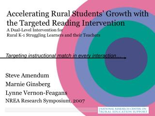 Accelerating Rural Students  Growth with the Targeted Reading Intervention A Dual-Level Intervention for  Rural K-1 Stru