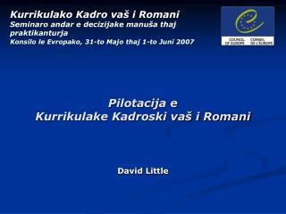 Pilotacija e  Kurrikulake Kadroski va  i Romani