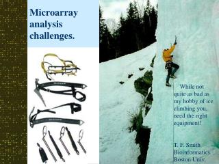 Microarray analysis challenges.