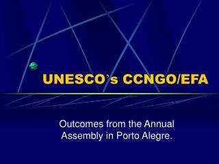 UNESCO s CCNGO