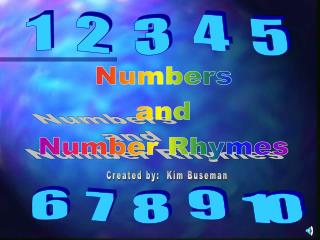 Numbers and Number Rhymes