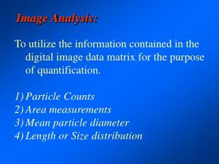 Image Analysis: