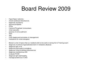 Board Review 2009