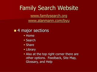Family Search Website familysearch   alanmann