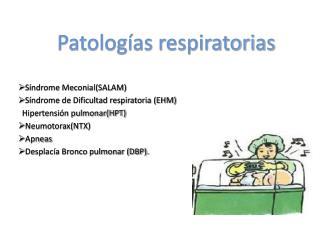 Patolog as respiratorias
