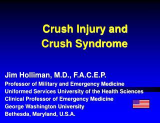 Crush Injury and  Crush Syndrome