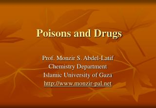 Poisons and Drugs
