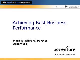 Achieving Best Business Performance