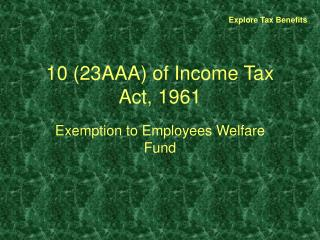 10 23AAA of Income Tax Act, 1961