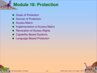 Module 18: Protection
