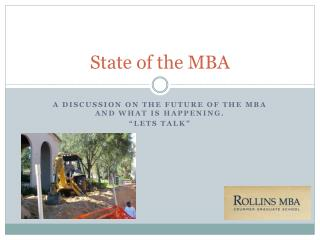 State of the MBA