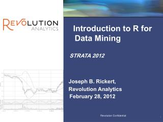 Introduction to R for Data Mining