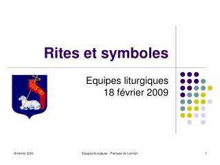 Rites et symboles