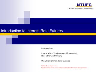 Introduction to Interest Rate Futures