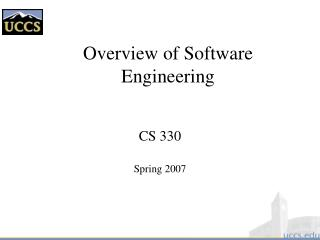 Overview of Software Engineering