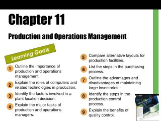 Chapter 11 Production and Operations Management