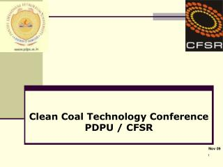 Clean Coal Technology Conference PDPU