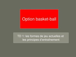 Option basket-ball