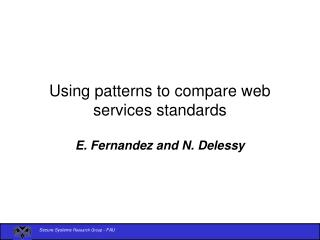 Using patterns to compare web services standards