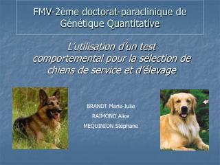 FMV-2 me doctorat-paraclinique de G n tique Quantitative