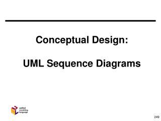 Conceptual Design: UML Sequence Diagrams