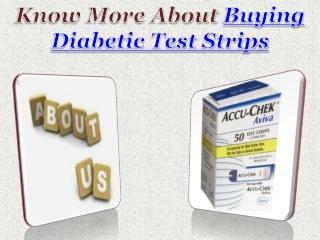 Buying Diabetic Test Strips