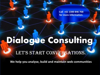 Analyse, Build and Maintain Web Communities