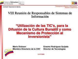 Utilizaci n de las TIC s, para la Difusi n de la Cultura Burs til y como Mecanismo de Protecci n al Inversionista