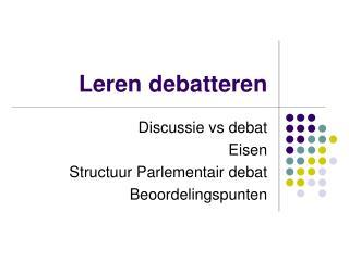 Leren debatteren