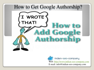 How to Get Google Verified Authorship?