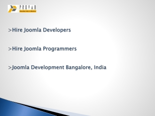 Hire A Joomla Developer, Joomla Web Development Company