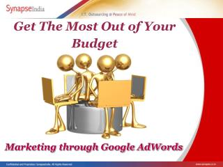 Marketing Through Google AdWords: Making the most of your bu