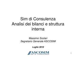 Sim di Consulenza Analisi dei bilanci e struttura interna