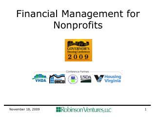 Financial Management for Nonprofits