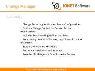 IONET Change Manager