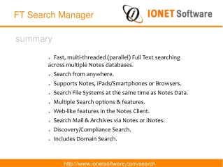 FT Search Manager