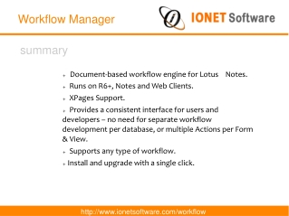 IONET Workflow Manager