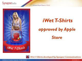 iWet T-shirts iPhone application selected by Apple