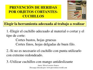 Autor: Silvia Lorenzo Suarez Descarga ofrecida por: prevention-world
